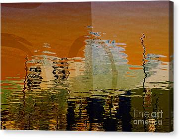 City Abstract Canvas Print by Elaine Manley