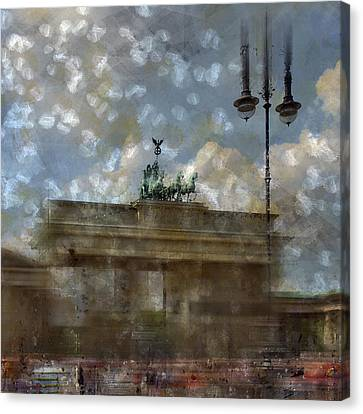 City-art Berlin Brandenburger Tor II Canvas Print