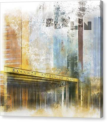 City-art Berlin Potsdamer Platz Canvas Print by Melanie Viola