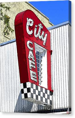 City Cafe Canvas Print by David Lee Thompson
