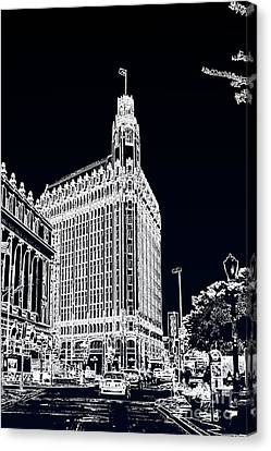 Canvas Print featuring the photograph City Center  by Joe Finney