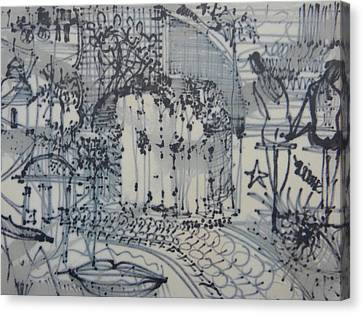 City Doodle Canvas Print by Marwan George Khoury