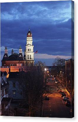 City Hall At Dusk Canvas Print by Matthew Green