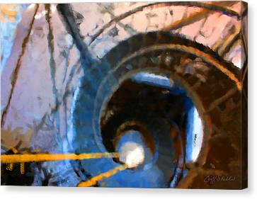 City Hall Spiral Abstract Canvas Print by Geoff Strehlow