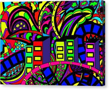 City Life Canvas Print by Karen Elzinga