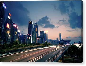 City Light Canvas Print by Bbq