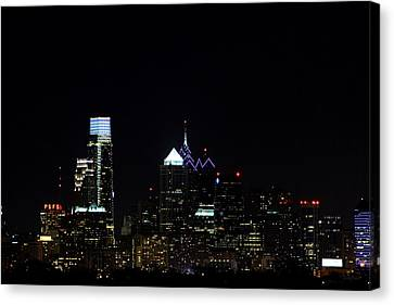 City Lights At Night Canvas Print