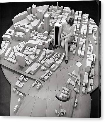 City Model Of Sydney, 1969 Canvas Print by National Physical Laboratory (c) Crown Copyright