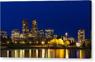 Canvas Print featuring the photograph City Night Lights by Ken Stanback
