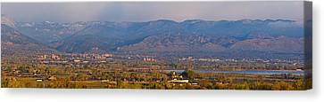 City Of Boulder Colorado Panorama View Canvas Print