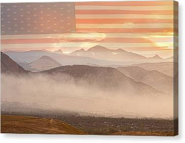 Epic Canvas Print - City Of Boulder Colorado Usa Wildfire Season by James BO  Insogna