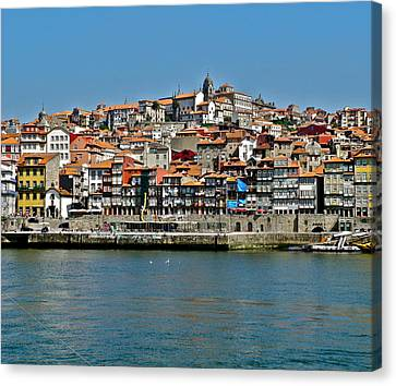 Canvas Print featuring the photograph City On A Hill On A River by Kirsten Giving