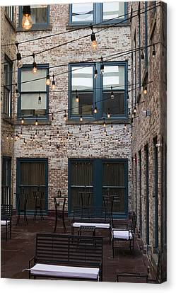 City Patio Canvas Print by Peter Chilelli
