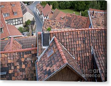 City Roofs Canvas Print by Heiko Koehrer-Wagner