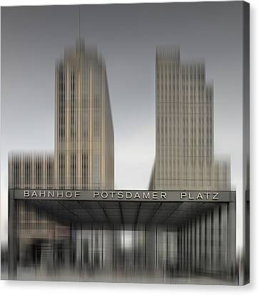 City-shapes Berlin Potsdamer Platz Canvas Print by Melanie Viola