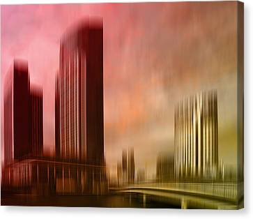 City Shapes Melbourne II Canvas Print