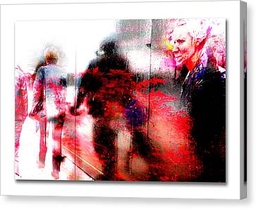 City Street Reflections Canvas Print by Mal Bray