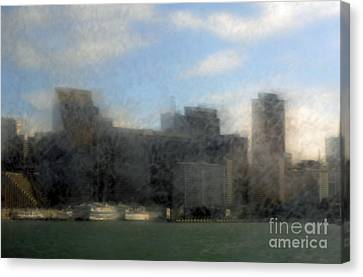 City View Through Window 3 Canvas Print by Catherine Lau