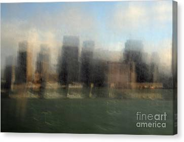 City View Through Window Canvas Print by Catherine Lau