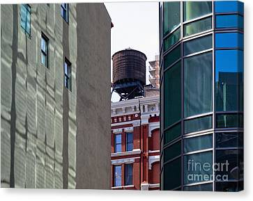 City Water Tower Canvas Print by Inti St. Clair