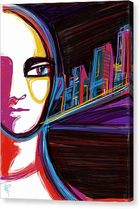 City Woman Canvas Print