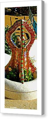 Citymarks Barcelona Canvas Print by Roberto Alamino