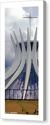 Citymarks Brasilia Canvas Print by Roberto Alamino