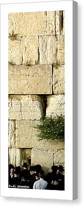 Citymarks Jerusalem Canvas Print by Roberto Alamino