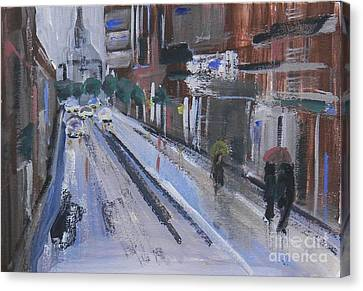Cityscape Canvas Print by Andreea Marian