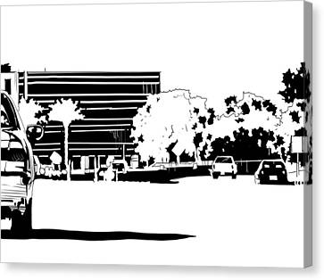 Cars Canvas Print - Cityscape Nr 1 by Giuseppe Cristiano