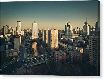 Cityscape Of Beijing, China Canvas Print by Yiu Yu Hoi