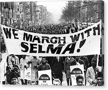 Civil Rights March, 1965 Canvas Print by Granger