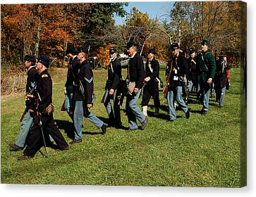Civil Soldiers March Canvas Print by LeeAnn McLaneGoetz McLaneGoetzStudioLLCcom