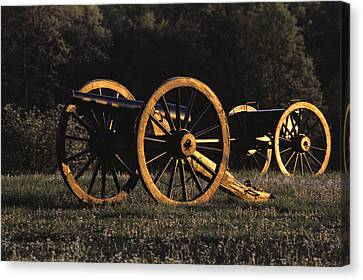 Civil War Cannon And Caisson, Manassas Canvas Print