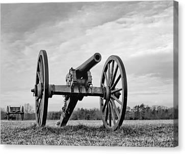 Civil War Canon - Manassas Battlefield - Virginia Canvas Print by Brendan Reals