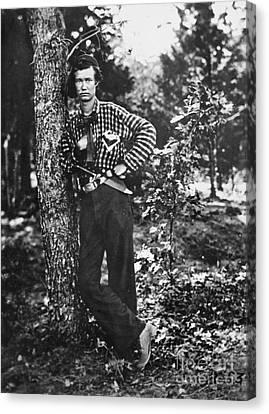 Civil War: Soldier, 1861 Canvas Print by Granger
