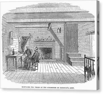 Civil War: Surrender Canvas Print by Granger