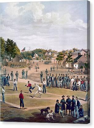 Civil War: Union Prisoners Canvas Print by Granger