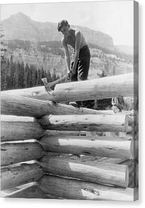 Civilian Conservation Corp Worker Canvas Print by Everett