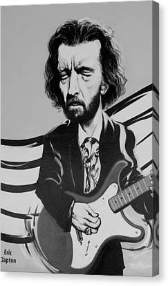 Clapton In Black And White Canvas Print by Rob Hans