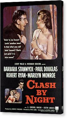 Clash By Night, Paul Douglas, Barbara Canvas Print by Everett