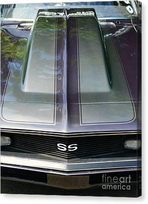 Classic Camaro Ss Hood Cowl Canvas Print by Paul Ward