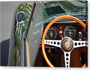 Classic Green Jaguar Artwork Canvas Print by Shane Kelly