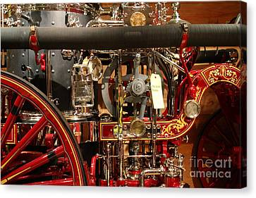 Classic Vintage Fire Engine . 7d13130 Canvas Print by Wingsdomain Art and Photography