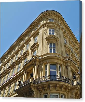 Canvas Print featuring the photograph Classical Architecture In Vienna by Kirsten Giving