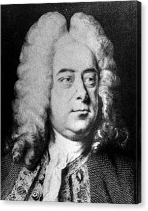 Classical Composer George Frideric Canvas Print by Everett