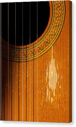 Classical Spanish Guitar Canvas Print by Perry Van Munster