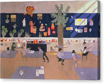 Classroom Canvas Print by Andrew Macara