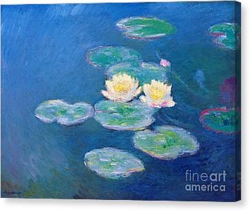 Claude Monet Nympheas 1907 Canvas Print by Pg Reproductions