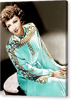 Claudette Colbert, Ca. 1940s Canvas Print by Everett